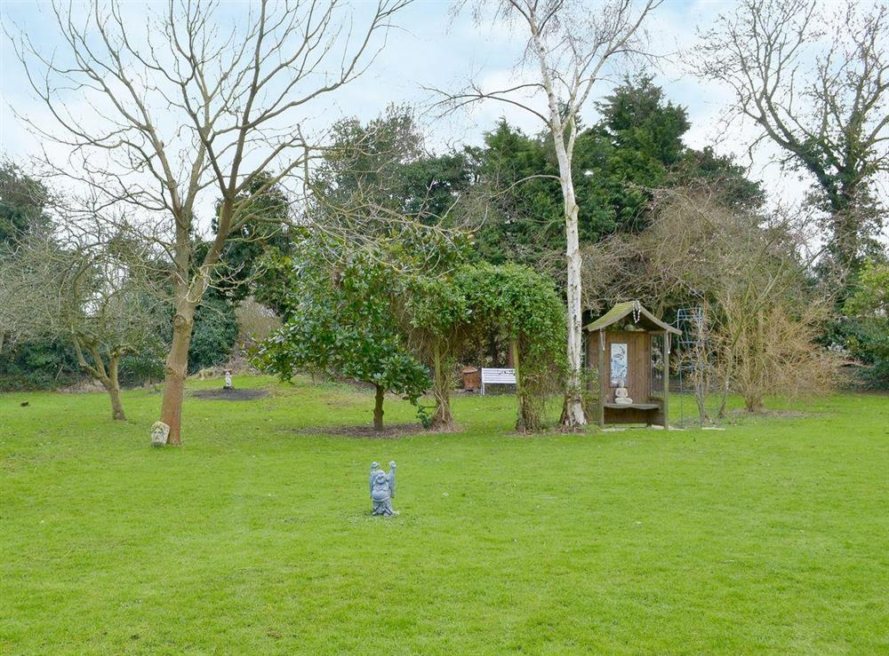 Garden and grounds at Orchard Corner in Hickling, Norfolk