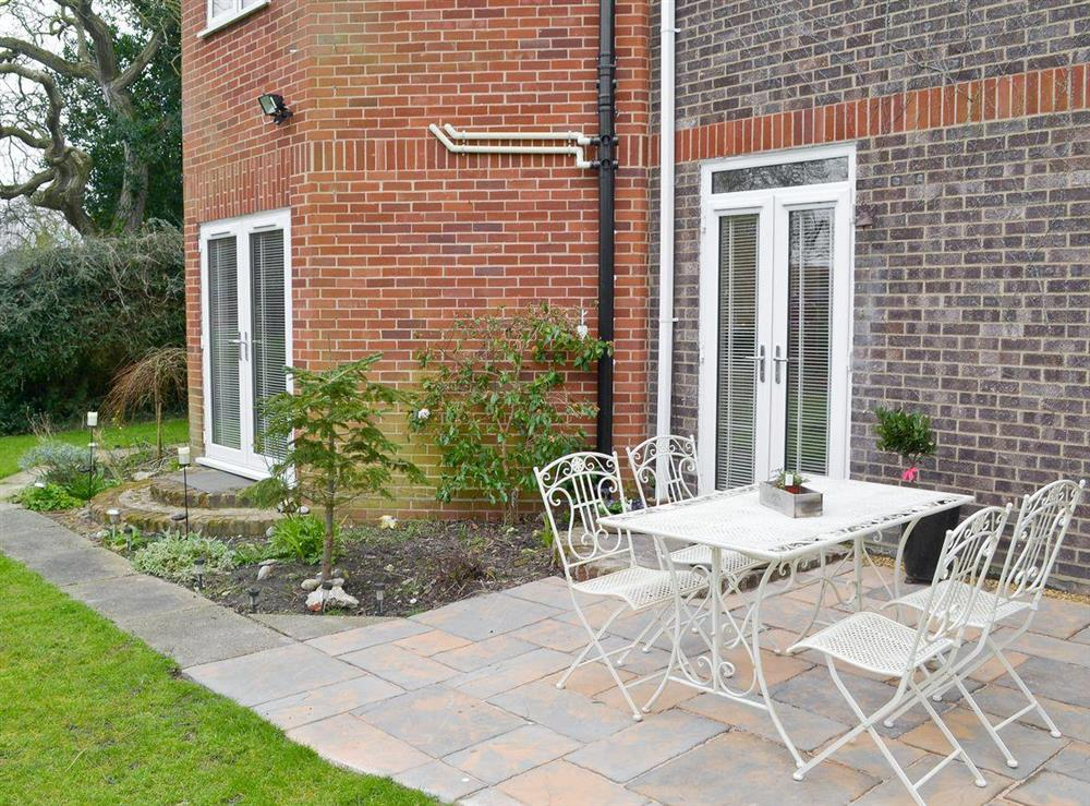 Patio at Orchard Corner in Hickling, Norfolk