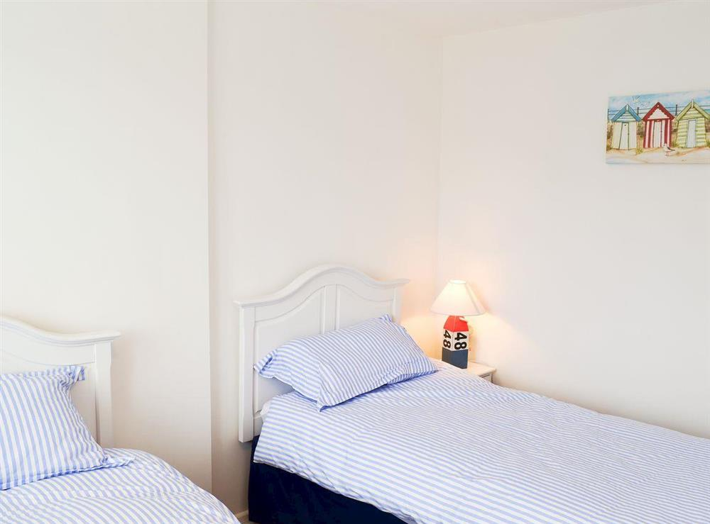Twin bedroom at Orchard Corner in Hickling, Norfolk
