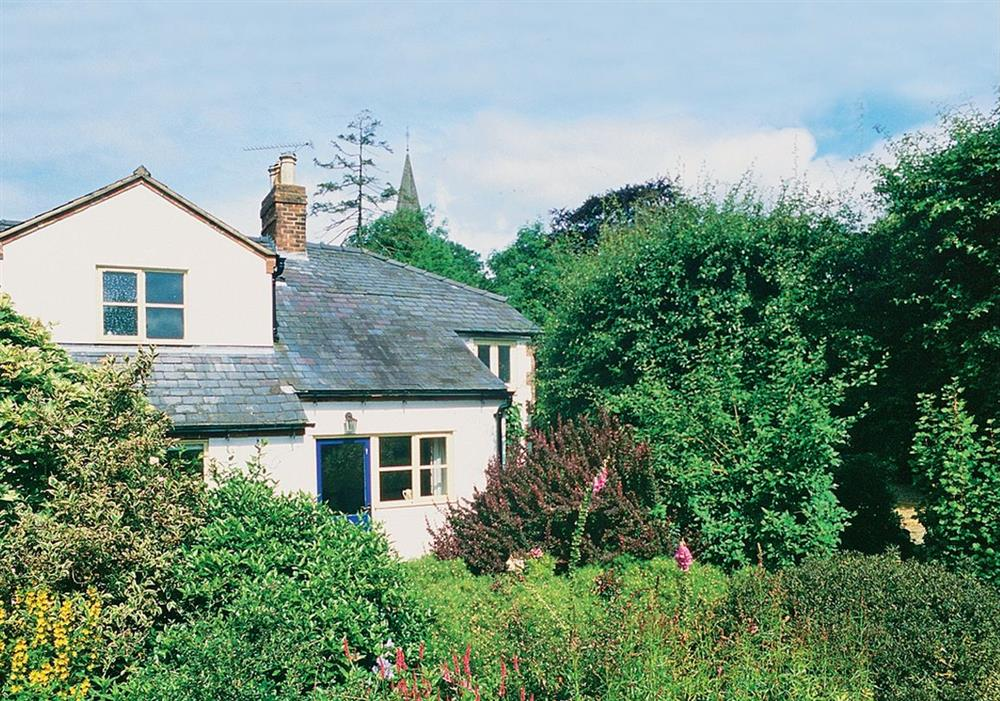 Orchard Cottage (lower roof line on right) at Orchard Cottage in Malvern, Worcestershire