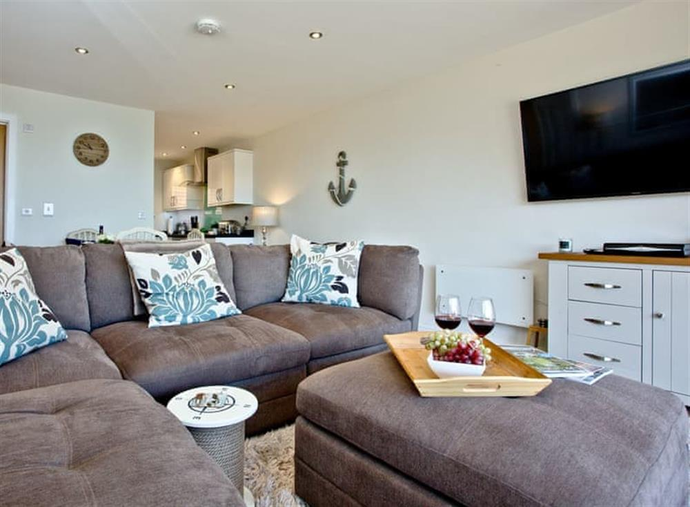 Open plan living space at The Cove,
