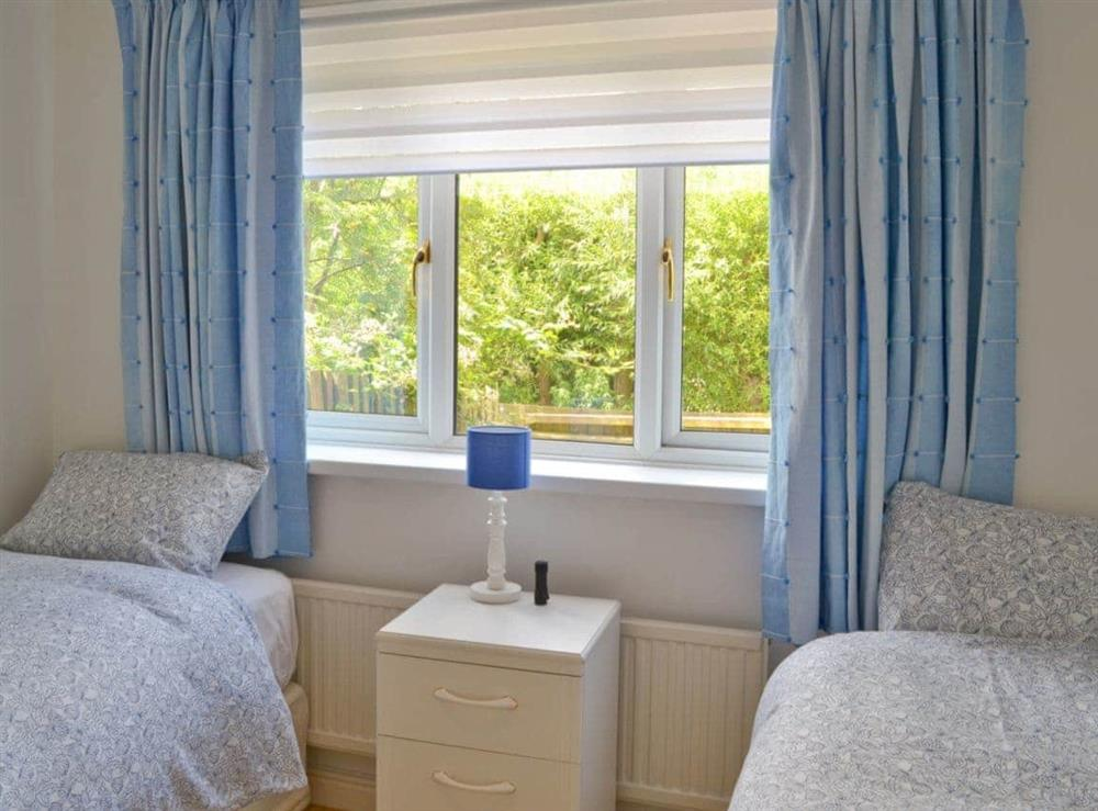 Twin bedroom at Otters in Wroxham, Norfolk