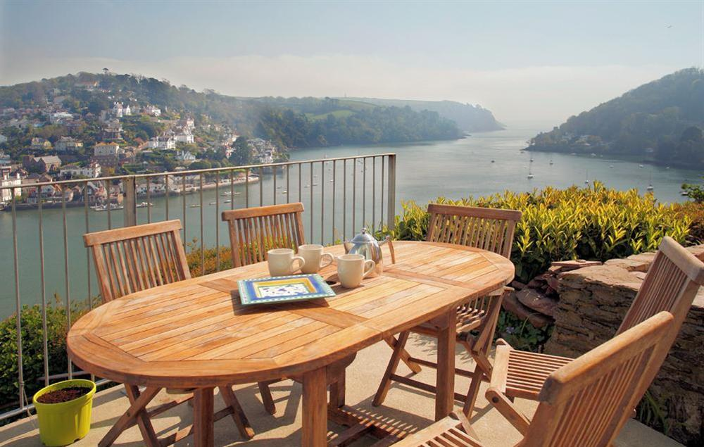 Out To Sea has spectacular views across the River Dart and....out to sea! at Out To Sea in 120 Above Town, Dartmouth