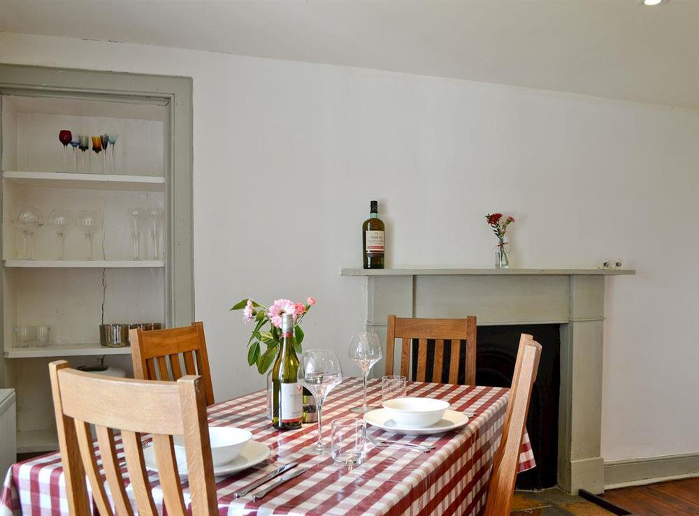 Dining area at Over Blairish Cottage in Keltneyburn, near Aberfeldy, Perthshire
