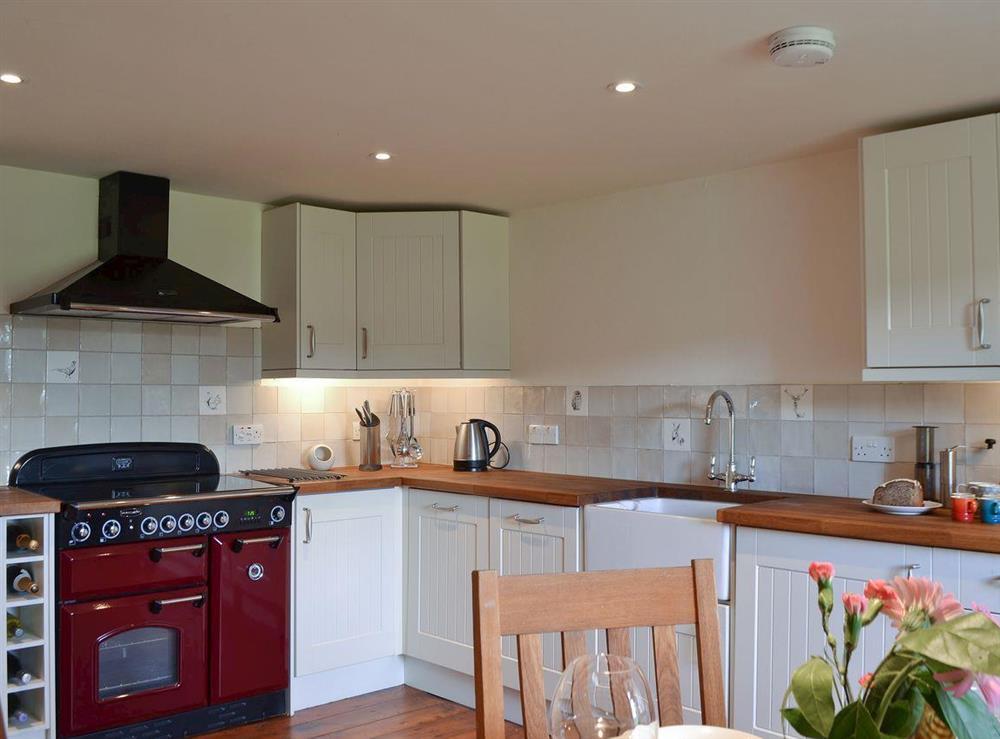 Kitchen & dining area at Over Blairish Cottage in Keltneyburn, near Aberfeldy, Perthshire