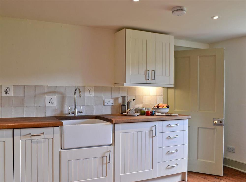 Kitchen at Over Blairish Cottage in Keltneyburn, near Aberfeldy, Perthshire