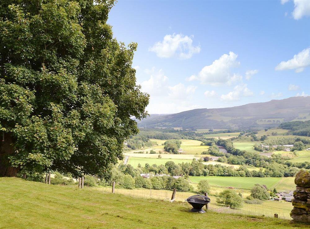Stunning countryside views at Over Blairish Cottage in Keltneyburn, near Aberfeldy, Perthshire