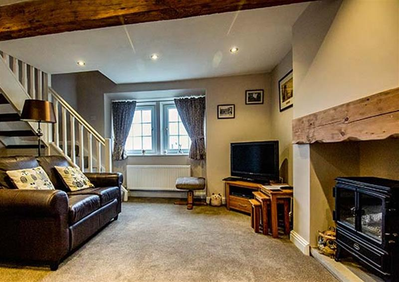 The living room at Owl Cottage, Haworth