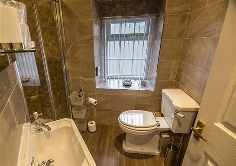 This is the bathroom at Owl Cottage, Haworth