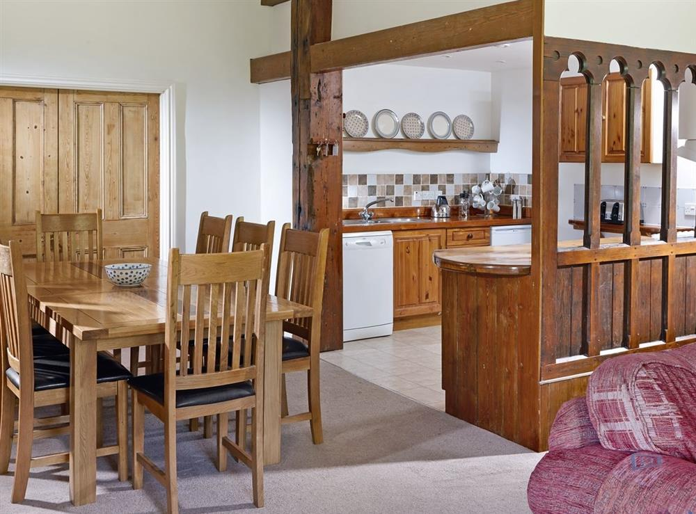 Dining Area at Papermaker's Cottage in Bow Creek, Nr Totnes, South Devon., Great Britain