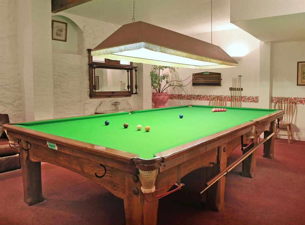 Games room at Papermaker's Cottage in Bow Creek, Nr Totnes, South Devon., Great Britain