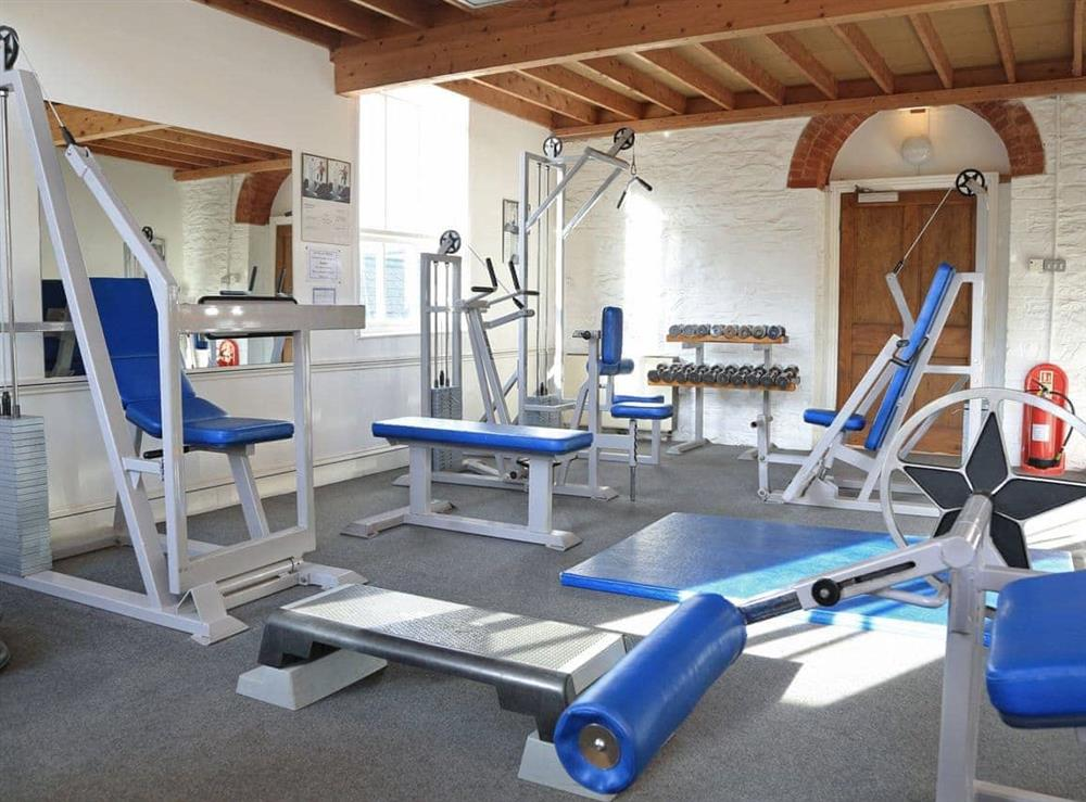 Gym at Papermaker's Cottage in Bow Creek, Nr Totnes, South Devon., Great Britain