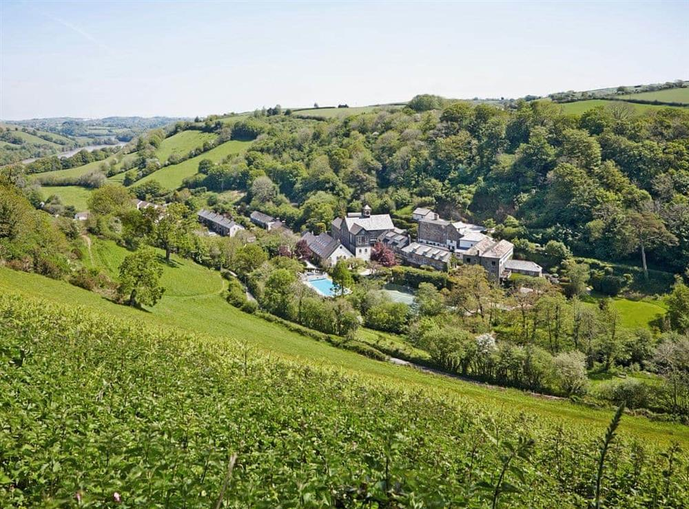 Tuckenhay Mill at Papermaker's Cottage in Bow Creek, Nr Totnes, South Devon., Great Britain