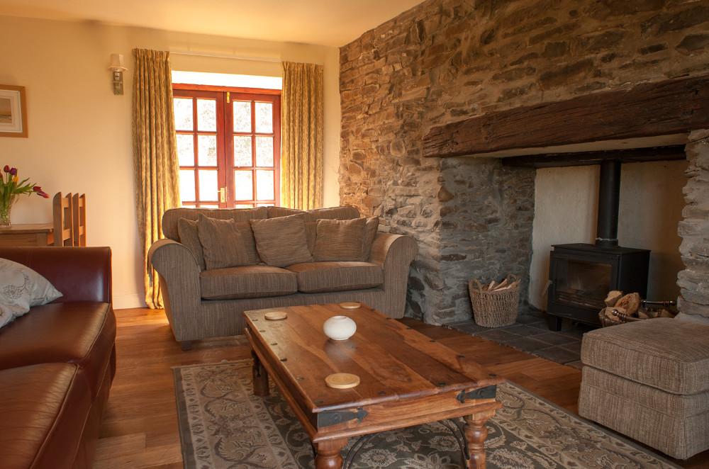 Living room at Bwthyn Gwyn,
