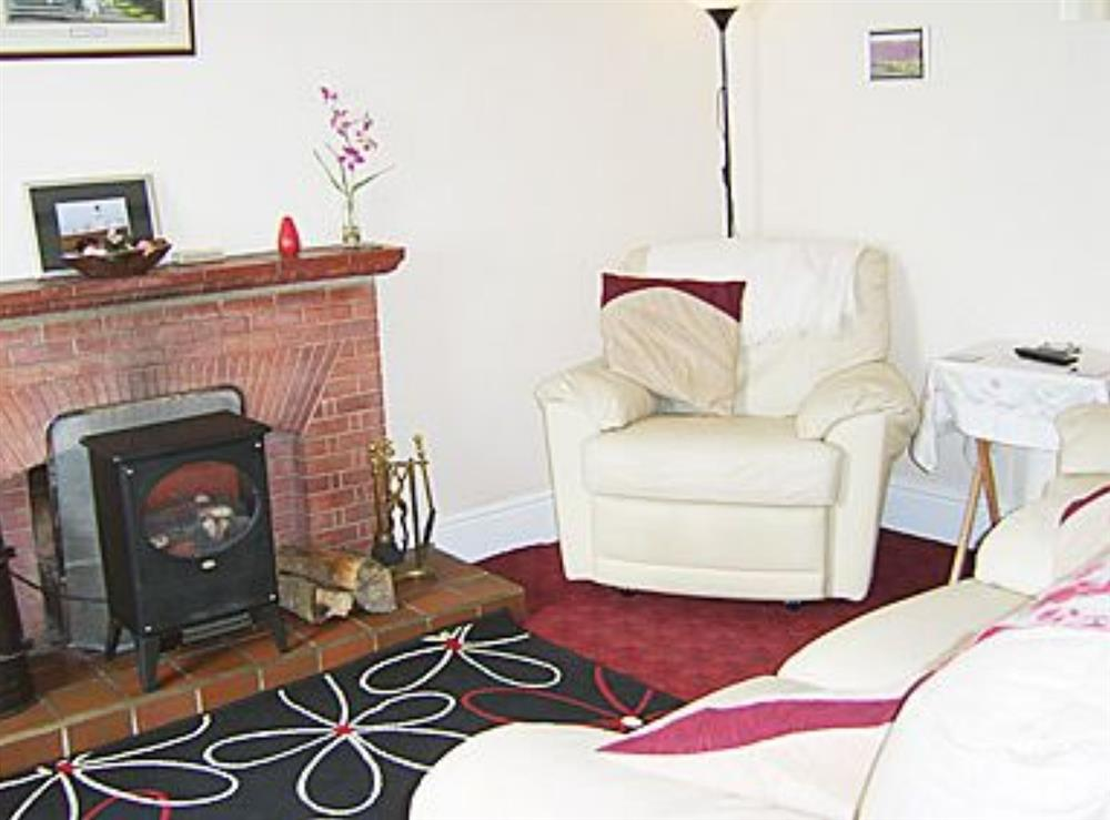 Living room at Parcllwyd Cottage in Cilgerran, near Cardigan, Dyfed