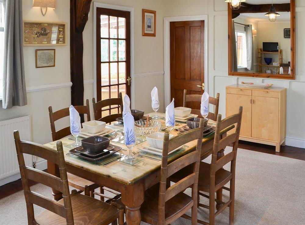 Delightful dining room at Park End in Walcott, near Stalham, Norfolk