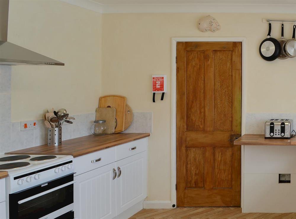 Pleasant kitchen at Park End in Walcott, near Stalham, Norfolk