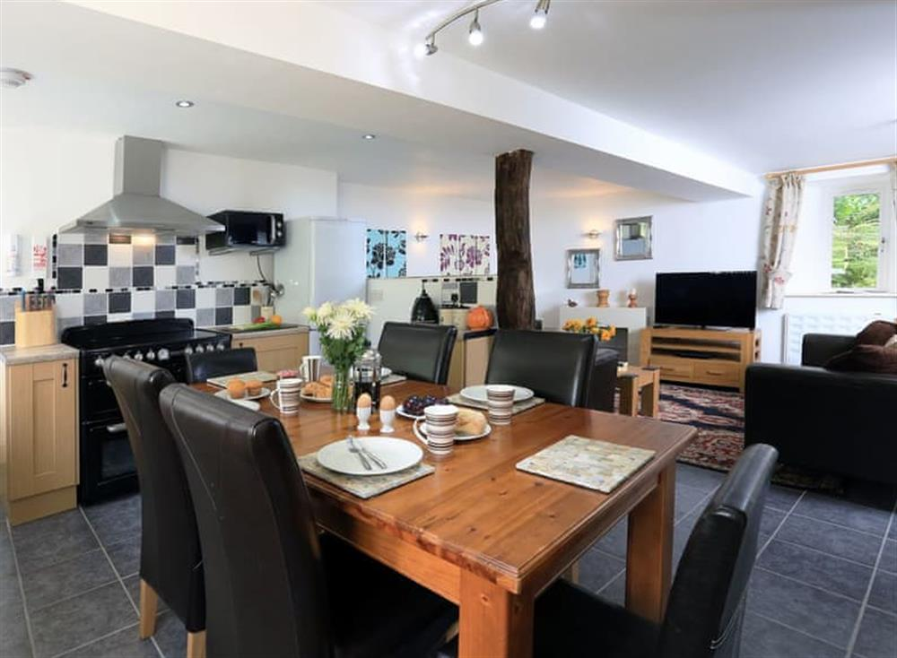 Open plan living space at Partridge Cottage in , Kingsbridge