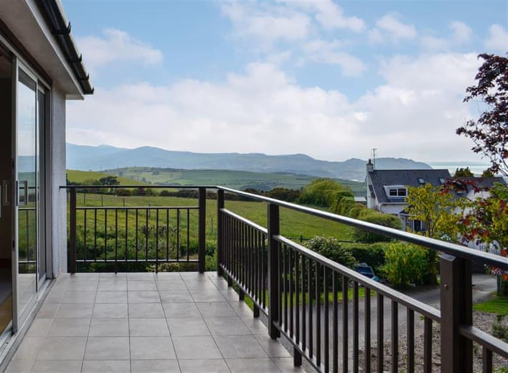 Wonderful views from the balcony at Pathacres in Colwyn Bay, Clwyd