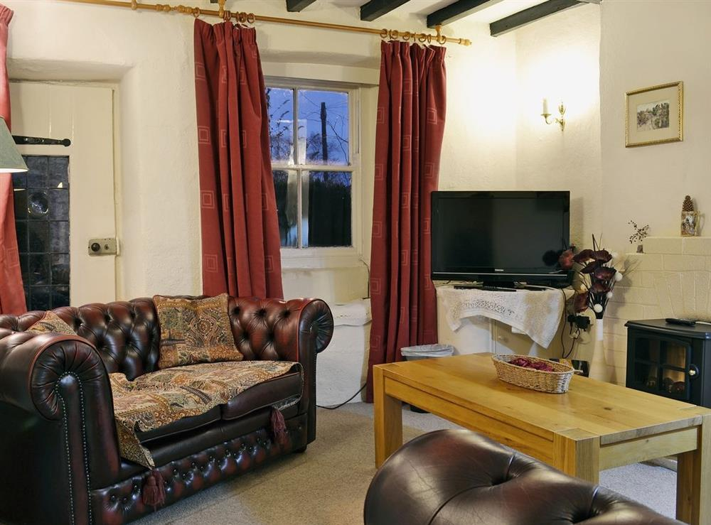 Living room at Pats Cottage in Dore, near Sheffield, South Yorkshire