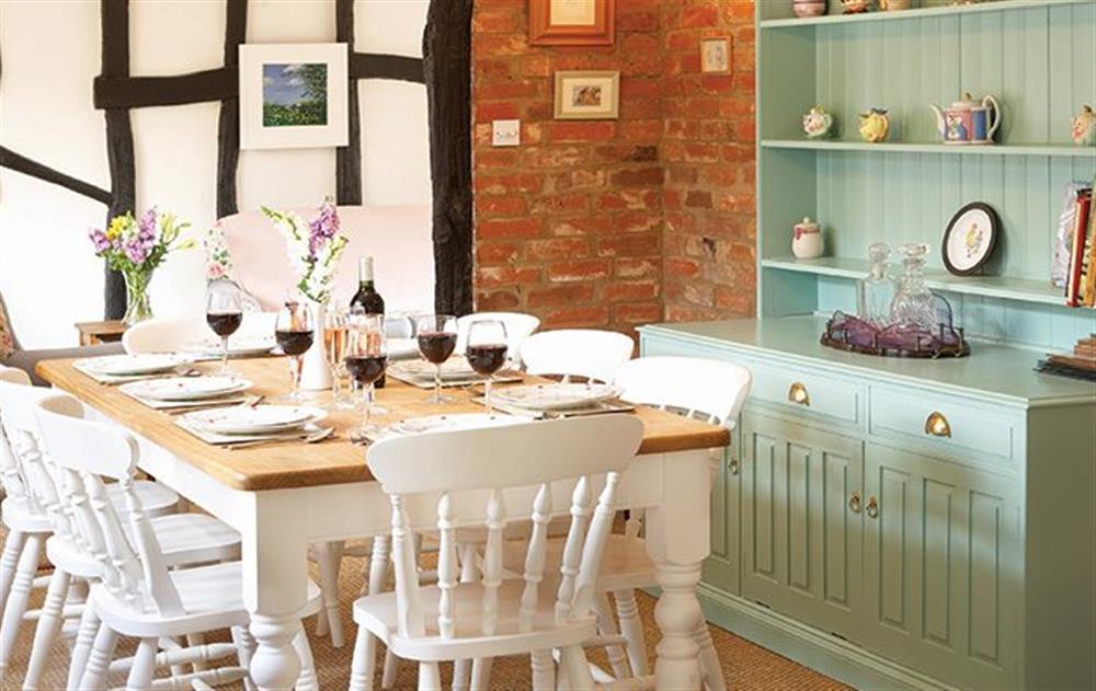 Ground floor:  Dining room at Peak Hill Cottage, Theberton