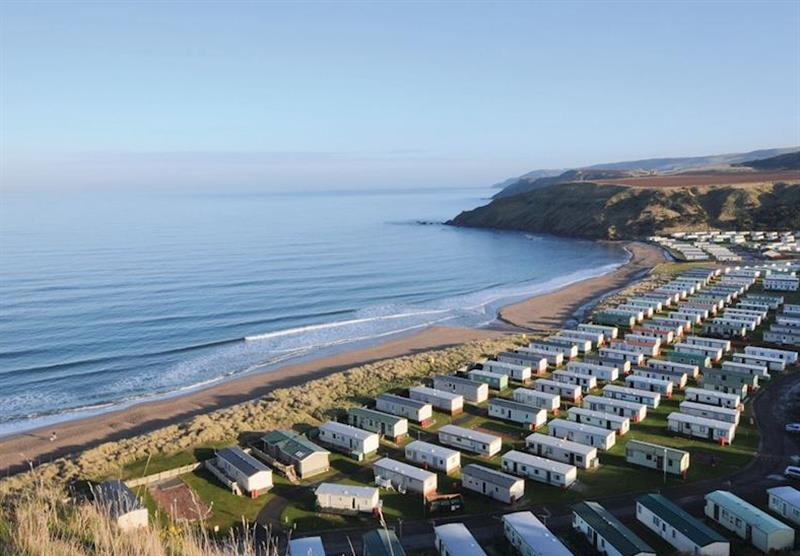 The park setting at Pease Bay Holiday Park in , Edinburgh & the Borders