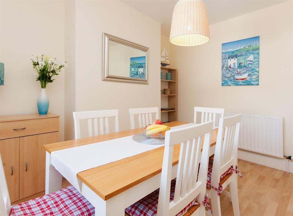 Dining room at Pebble Cottage in Dartmouth, Devon