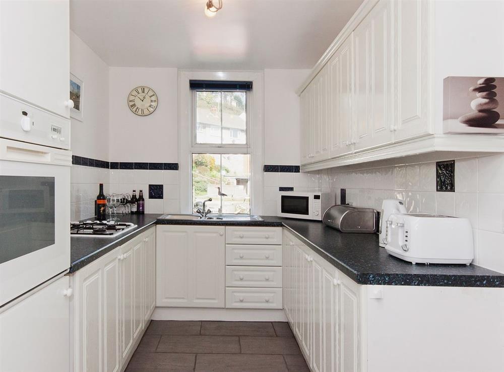 Kitchen at Pebble Cottage in Dartmouth, Devon