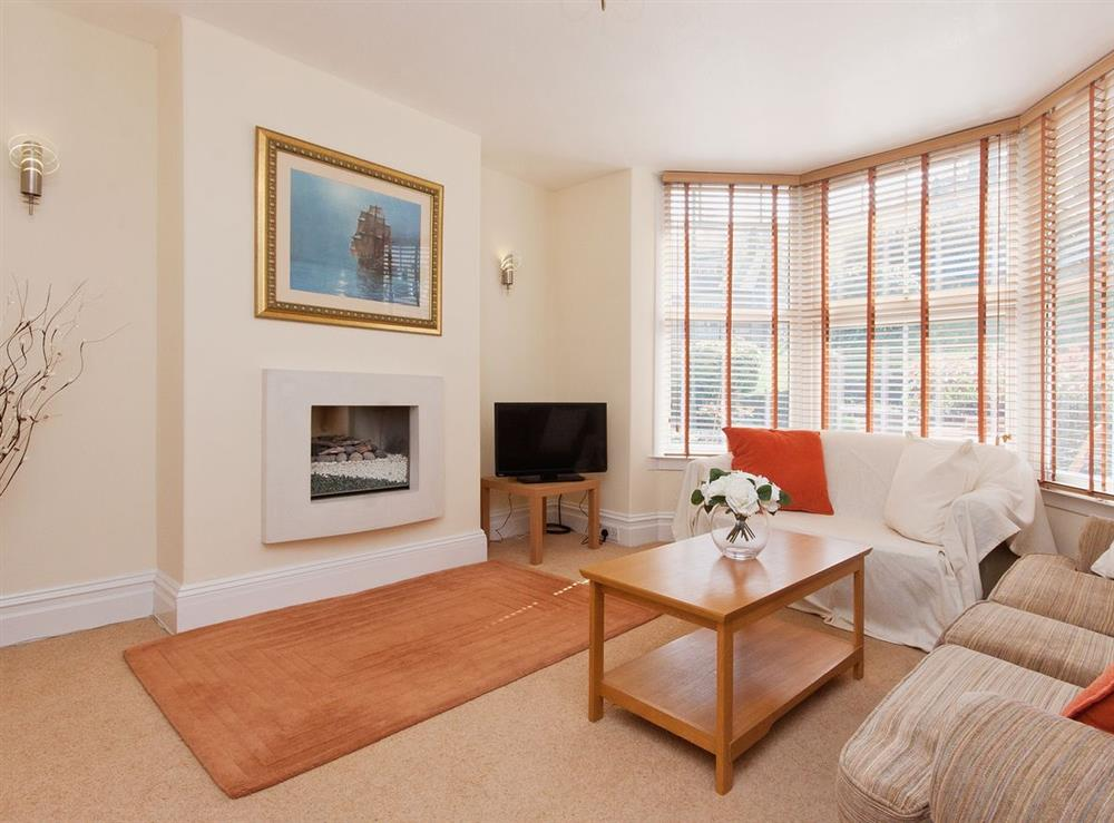 Living room at Pebble Cottage in Dartmouth, Devon