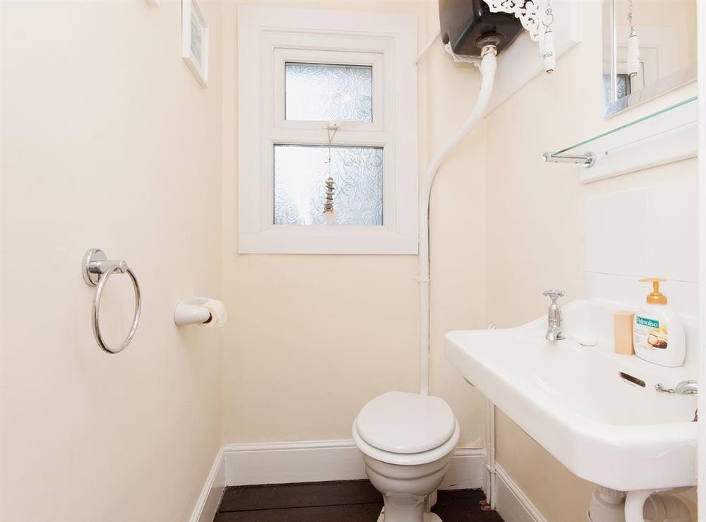 WC at Pebble Cottage in Dartmouth, Devon