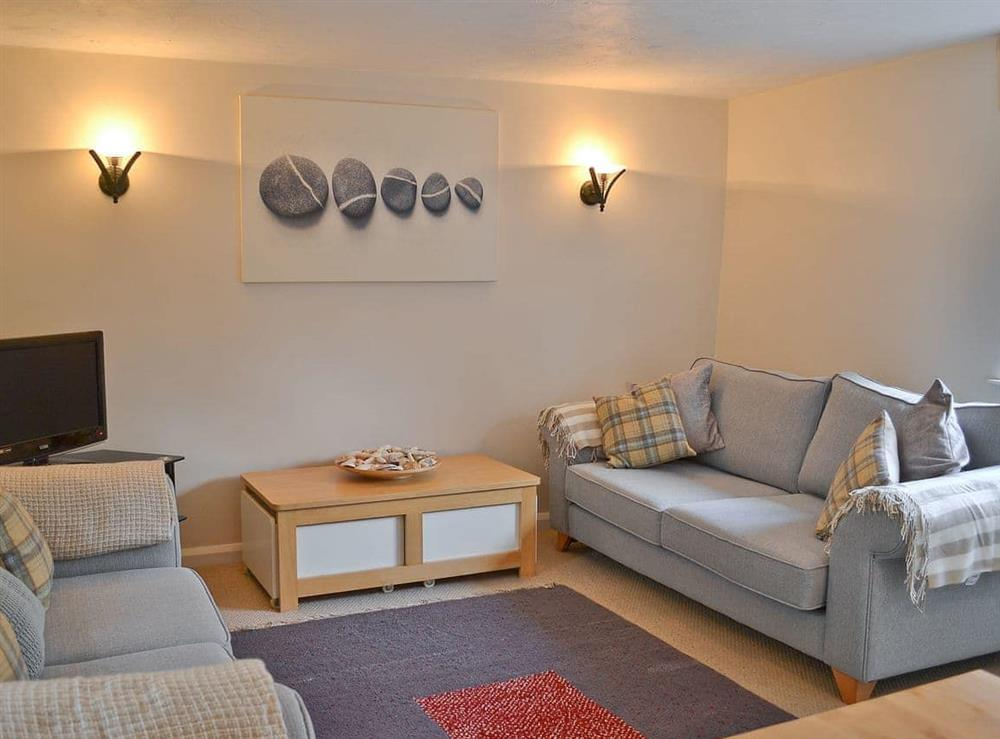 Living room at Pebble Cottage in Holt, Norfolk., Great Britain