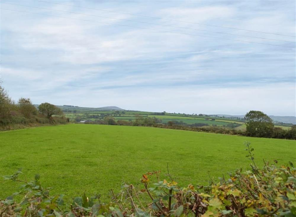 Lush rolling Pembrokeshire countryside at Snowdrop Cottage,
