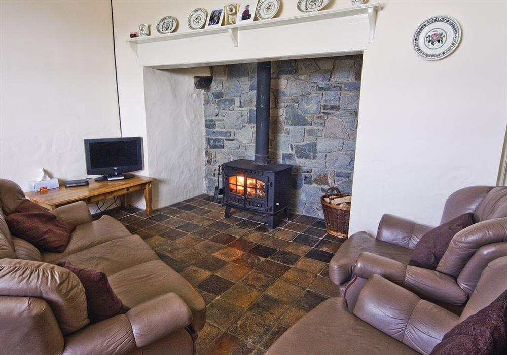Penrhyn Mawr sitting room at Penrhyn Mawr in Pwllheli, Gwynedd