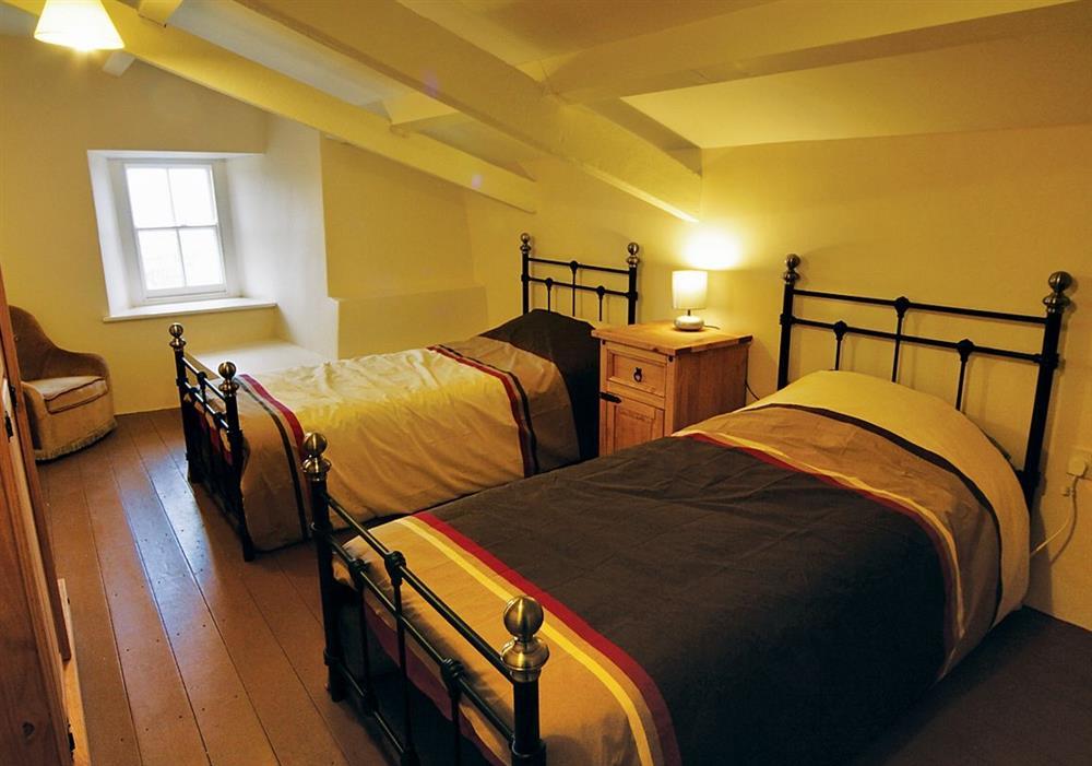 Penrhyn Mawr twin bedded room at Penrhyn Mawr in Pwllheli, Gwynedd