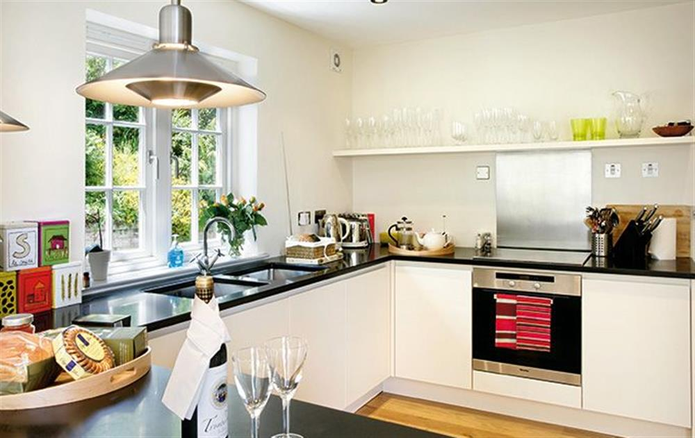 Ground floor: Kitchen leading to large dining room at Penveron, Dittisham