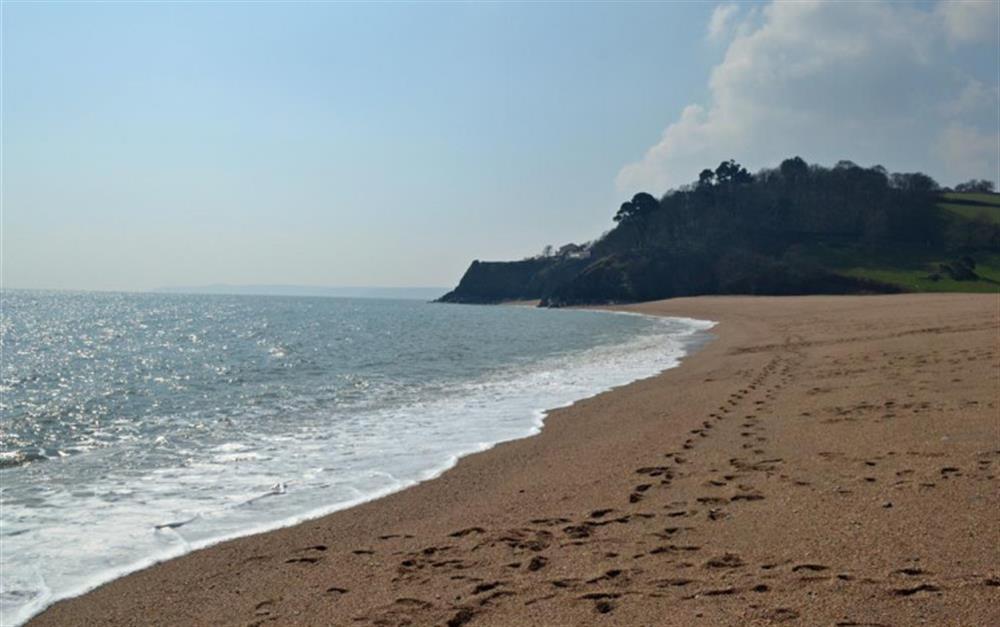 Blackpool Sands is a popular South Hams beach at Perchwood Cottage, Tuckenhay