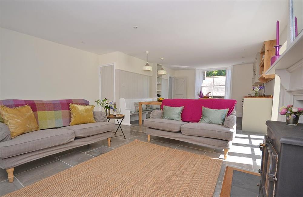 Sink into the comfortable sofas at Perchwood Cottage, Tuckenhay
