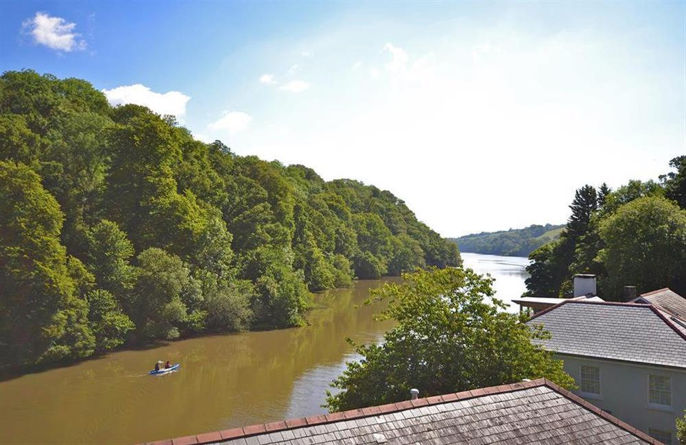 Stunning views along Bow Creek enjoyed from the double bedroom at Perchwood Cottage, Tuckenhay