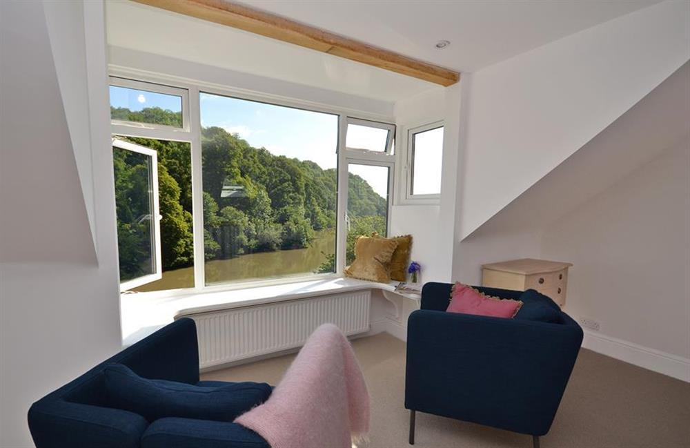 The cosy seating area within the top floor double bedroom at Perchwood Cottage, Tuckenhay
