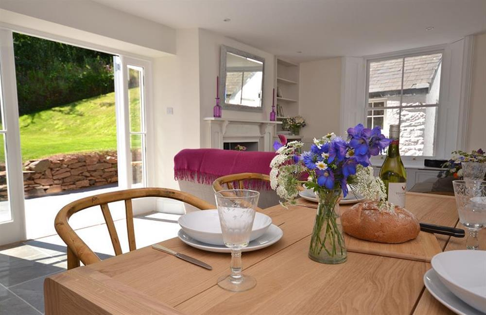 The dining area at Perchwood Cottage, Tuckenhay