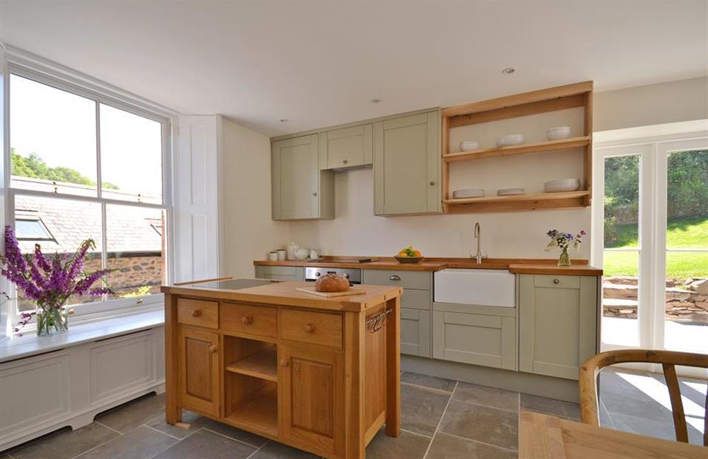 The kitchen is a delight to cook in at Perchwood Cottage, Tuckenhay