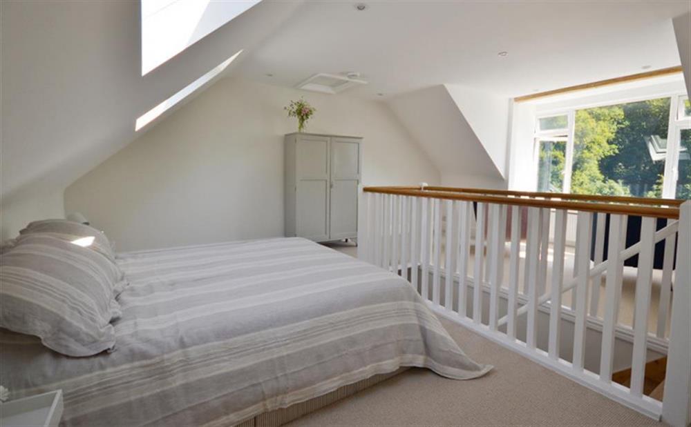 The top floor double bedroom at Perchwood Cottage, Tuckenhay