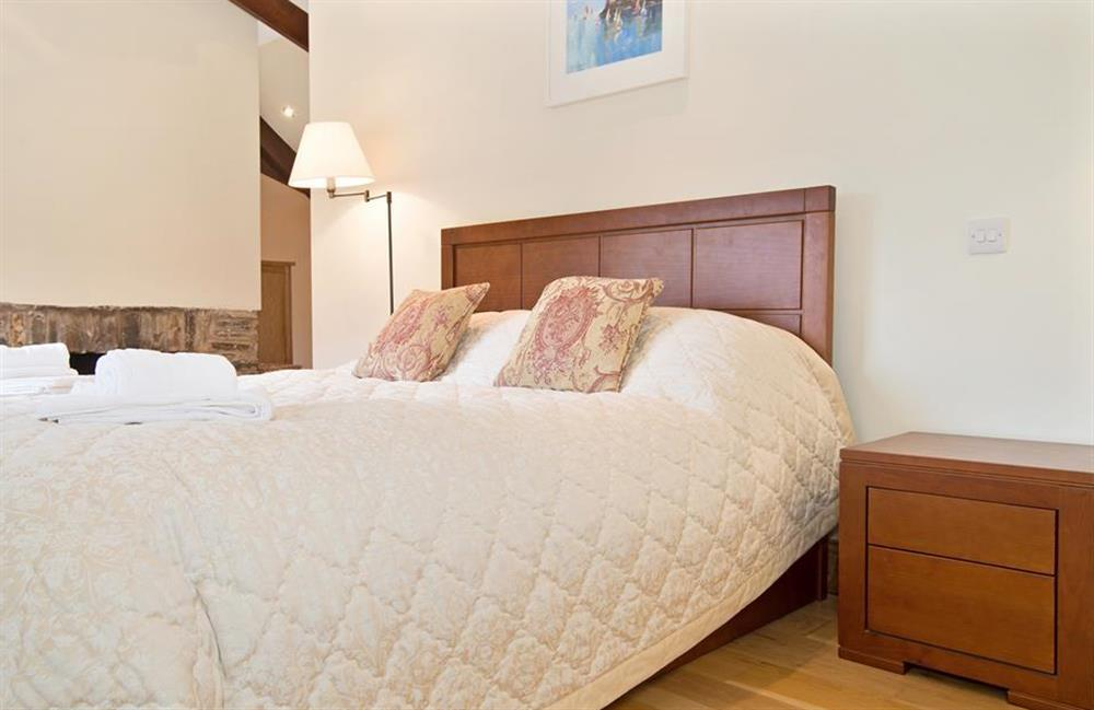 Another view of the master bedroom at Perchwood Shippon, Tuckenhay
