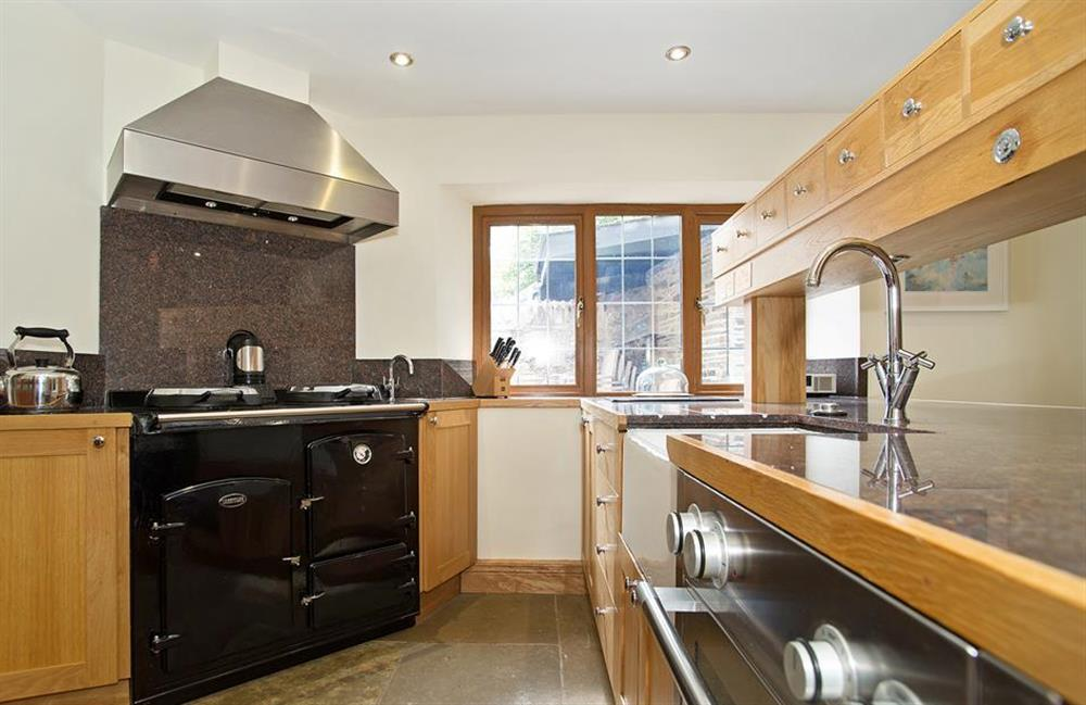 Another view of the stunning kitchen at Perchwood Shippon, Tuckenhay
