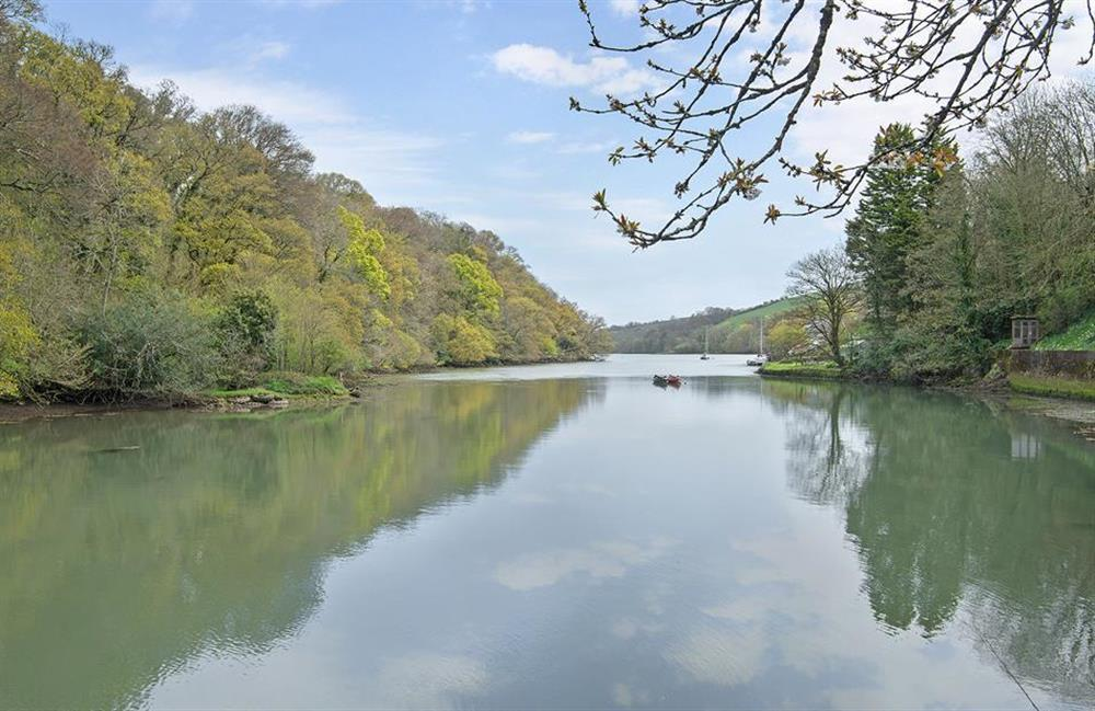 The scenic view down the River Dart from Perchwood Shippon at Perchwood Shippon, Tuckenhay
