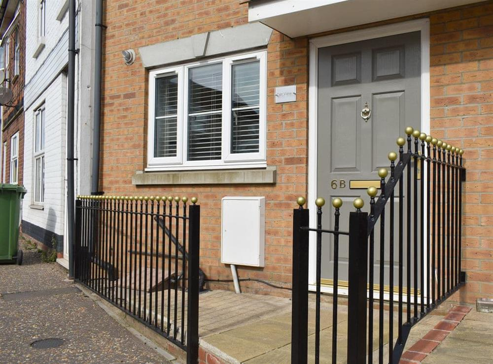 Attractive front entrance at Pier View in Gorleston-on-Sea, Norfolk