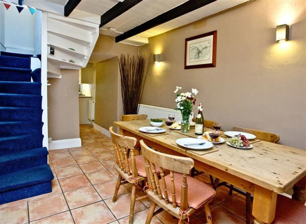 Dining Area at Pilgrims Cottage in Brixham, South Devon