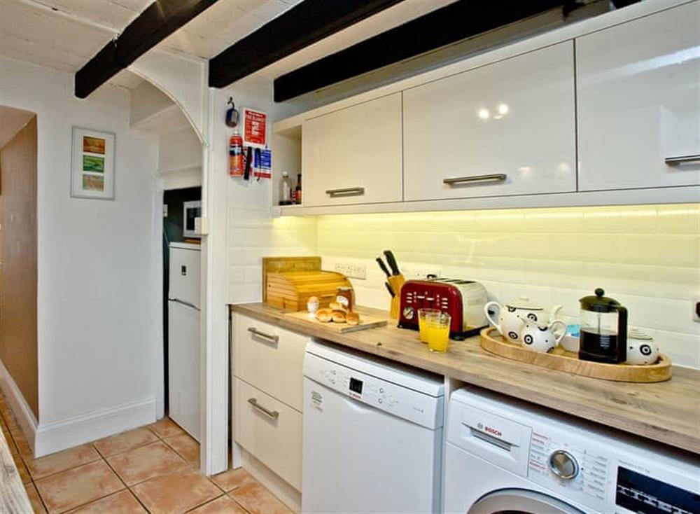 Kitchen at Pilgrims Cottage in Brixham, South Devon