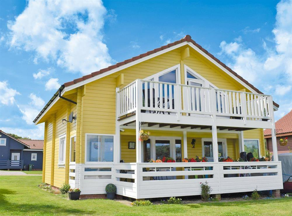 Scandinavian designed, detached lodge at Pine View in Fritton, near Great Yarmouth, Norfolk
