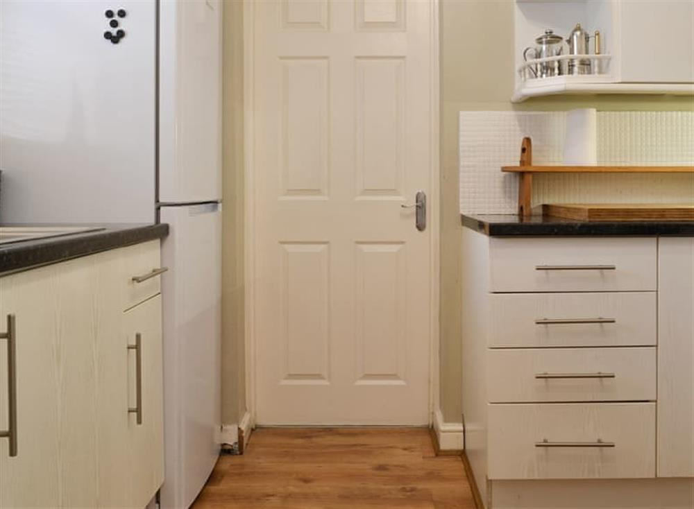 Compact well-equipped kitchen at Pinewood Cottage in Hainford, near Norwich, Norfolk